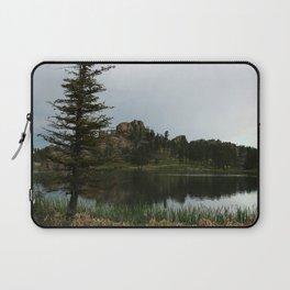 Moody Evening  At Sylvan Lake Laptop Sleeve