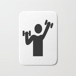 weight lifting Bath Mat