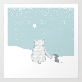 Shooting Star and friends Art Print