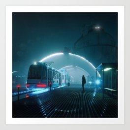 LAST TRAIN HOME (everyday 10.04.17) Art Print