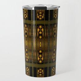 Golden Clasp Pattern Travel Mug