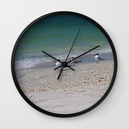 Dolphin Watching on Lover's Key Wall Clock