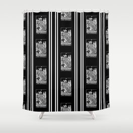 Black and White Repeating Striped Pattern - The Empress Shower Curtain