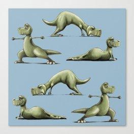 Yogasaurs (Blue) Canvas Print
