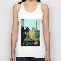 vienna Tank Tops featuring Visit Vienna by Duke Dastardly