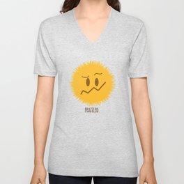 frazzled emoji #society6 Unisex V-Neck