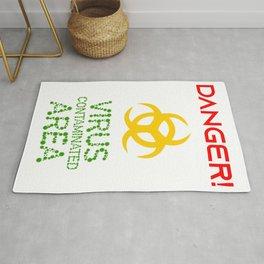 Danger! Virus Contaminated Area Rug