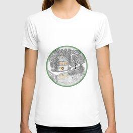 Round Barn Inn, Waitsfield, Vermont near Sugarbush- Zentangle illustration T-shirt
