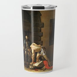 The Beheading of St John the Baptist by Caravaggio (1608) Travel Mug
