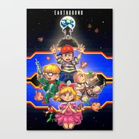 earthbound Canvas Prints featuring Welcome to Earthbound by kichisu