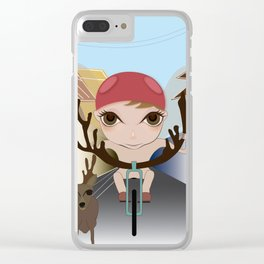 Deery Fairy Riding a Bike Clear iPhone Case