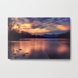 A night at the river Metal Print