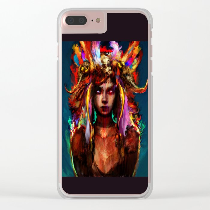 native girl Clear iPhone Case