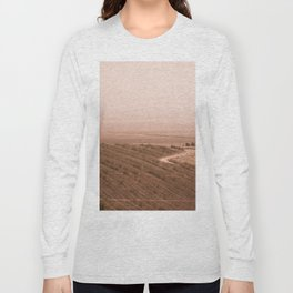 Valley of Megiddo in Sepia Tone Long Sleeve T-shirt