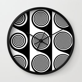 Liquorice wheels Wall Clock