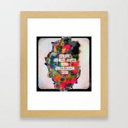 C R ▲ Z Y Framed Art Print