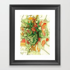 Mate' Cartography Framed Art Print