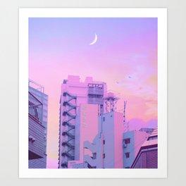 Shibuya Morning Crescent Art Print