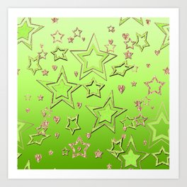 Bright green  lime , green neon Art Print