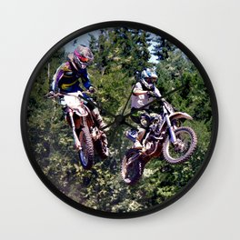 Closing In - Motocross Racers Wall Clock