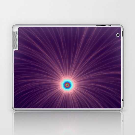 Color Explosion in Purple and Blue Laptop & iPad Skin