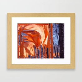 Gates Blowing In The Wind No. 1 Framed Art Print