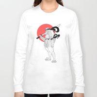 ninja turtle Long Sleeve T-shirts featuring A Female Ninja Turtle by Rach-Draws