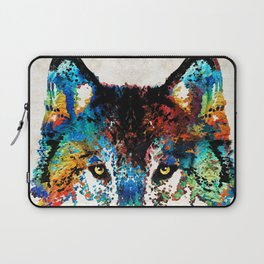Wolf Art Print - Hungry - By Sharon Cummings Laptop Sleeve