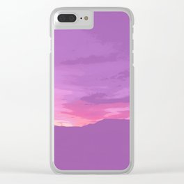 Lavender Joshua Sunset - Pop_Art Clear iPhone Case
