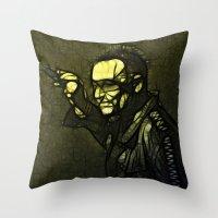 u2 Throw Pillows featuring U2 / Bono 1 by JR van Kampen