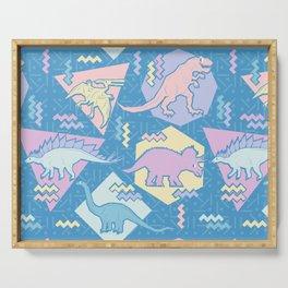 Nineties Dinosaurs Pattern  - Pastel version Serving Tray