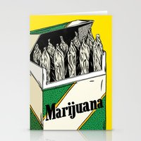marijuana Stationery Cards featuring Mainstream Marijuana by Kelsey Dake