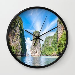 Islets in Phang Nga Bay Wall Clock