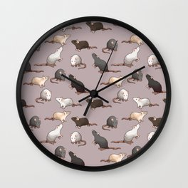 Pixel Rats Wall Clock