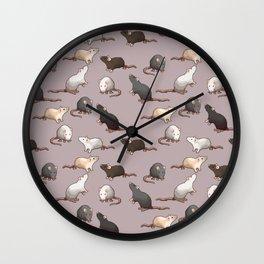 Pixel Rats Wall Clock