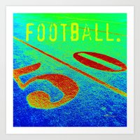 football Art Prints featuring FOOTBALL. by TMCdesigns