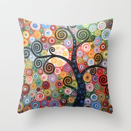 Abstract Art Landscape Original Painting ... Dreaming of Magic Throw Pillow