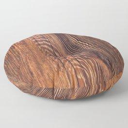 Old grunge wood Floor Pillow