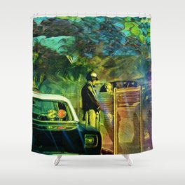 A Nightly Pull Over:The Casual Affair Shower Curtain