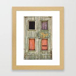 Katrina X-code Door, New Orleans Framed Art Print