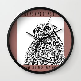 Baby Meerkat Love Wall Clock