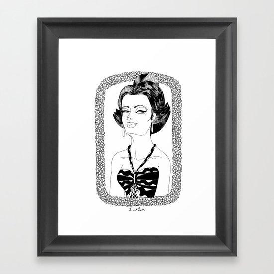 Be Classy Framed Art Print