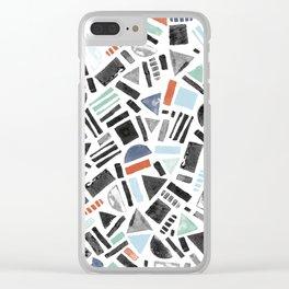 Eyecatching potato stamp pattern Clear iPhone Case