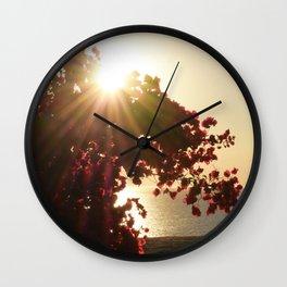 Bougainvillea Sunset Wall Clock