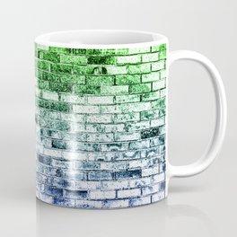 Colored Bricks - Green and Bllue Coffee Mug