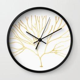 Golden coral II Wall Clock