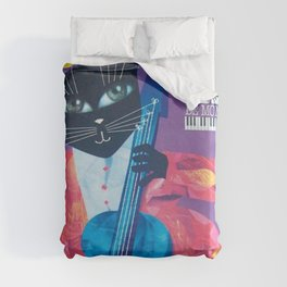 1994 Montreal Jazz Festival Cool Cat Poster No. 1 Gig Advertisement Duvet Cover
