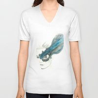 wind V-neck T-shirts featuring Wind by Simona Borstnar