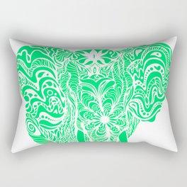 Not a circus elephant neon version Rectangular Pillow