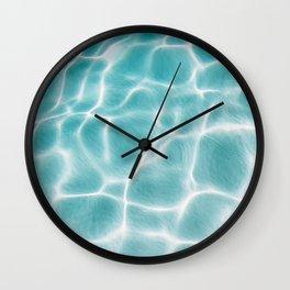 Aqua Electric Water Wall Clock